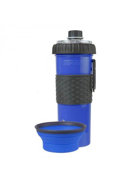 Snack-DuO with Companion Cup Пляшка подвійна під рідину і корм зі складною мискою