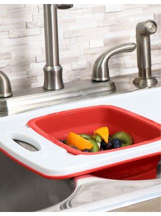Over-The-Sink Poly Board Дошка з силіконовим друшляком